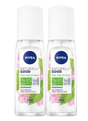 Nivea Nivea Naturally Good Doğal Yeşil Çay Özleri Kadin Deodorant Pump Sprey 75 ml x2 Renkli